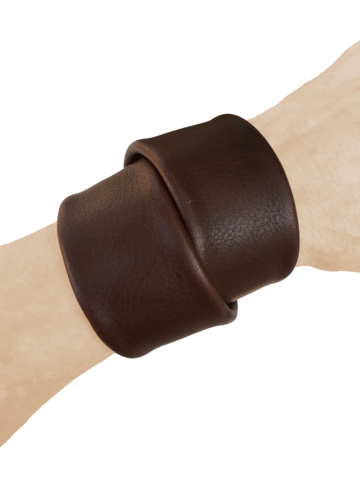 Macho wrap bracelet, brown cowhide - product images  of