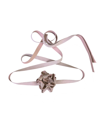 Blush,leather,flower,belt,,pink,lambskin,bridesmaid belt,pink belt,blush leather,bride belt,wedding dress sash, wedding dress belt,leather flower,flower belt,pink flower belt,boho belt,belt with flower,lambskin belt,ribbon belt,leather ribbon belt,pink tie belt,manobello,mano bello
