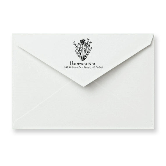 Flower Patch Address Stamp - product image