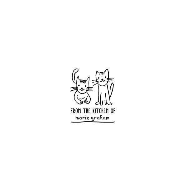 Cat Friends Personalized Rubber Stamp - product images  of