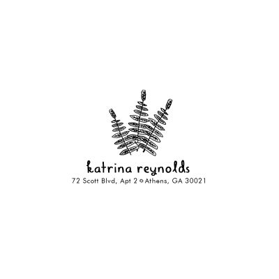 Fern Address Stamp - product images  of