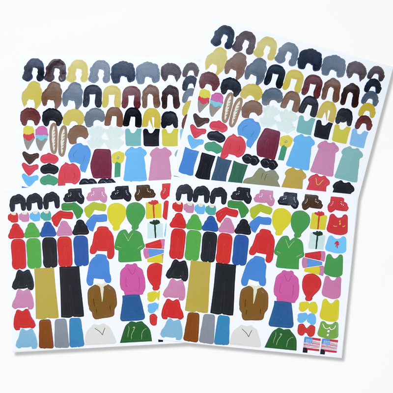 Thumbprint Portraits Activity Set - product images  of