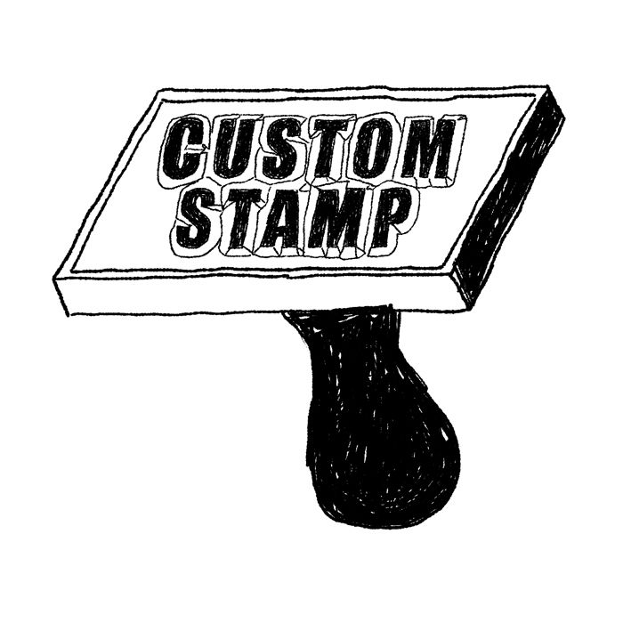 100% Custom Rubber Stamp - Made from Your Artwork - product image