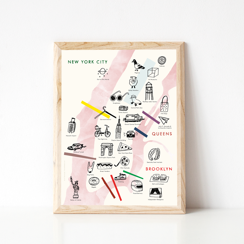 Illustrated NYC Map - product images  of