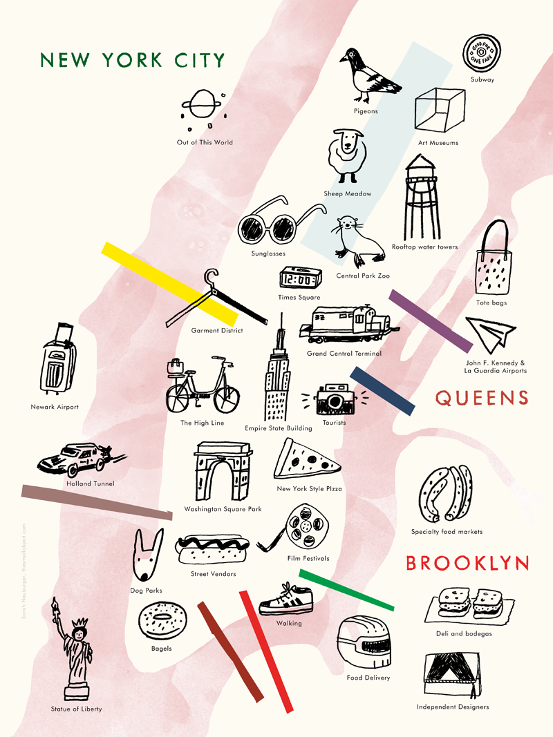 Illustrated NYC Map - product image