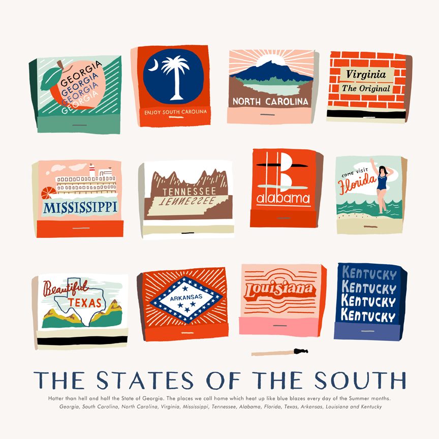 The States of the South - product image