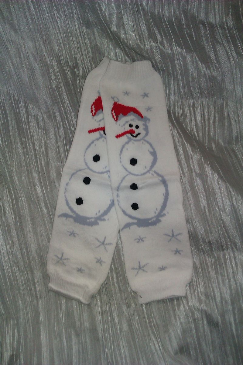 Snowman Leg Warmers - product image