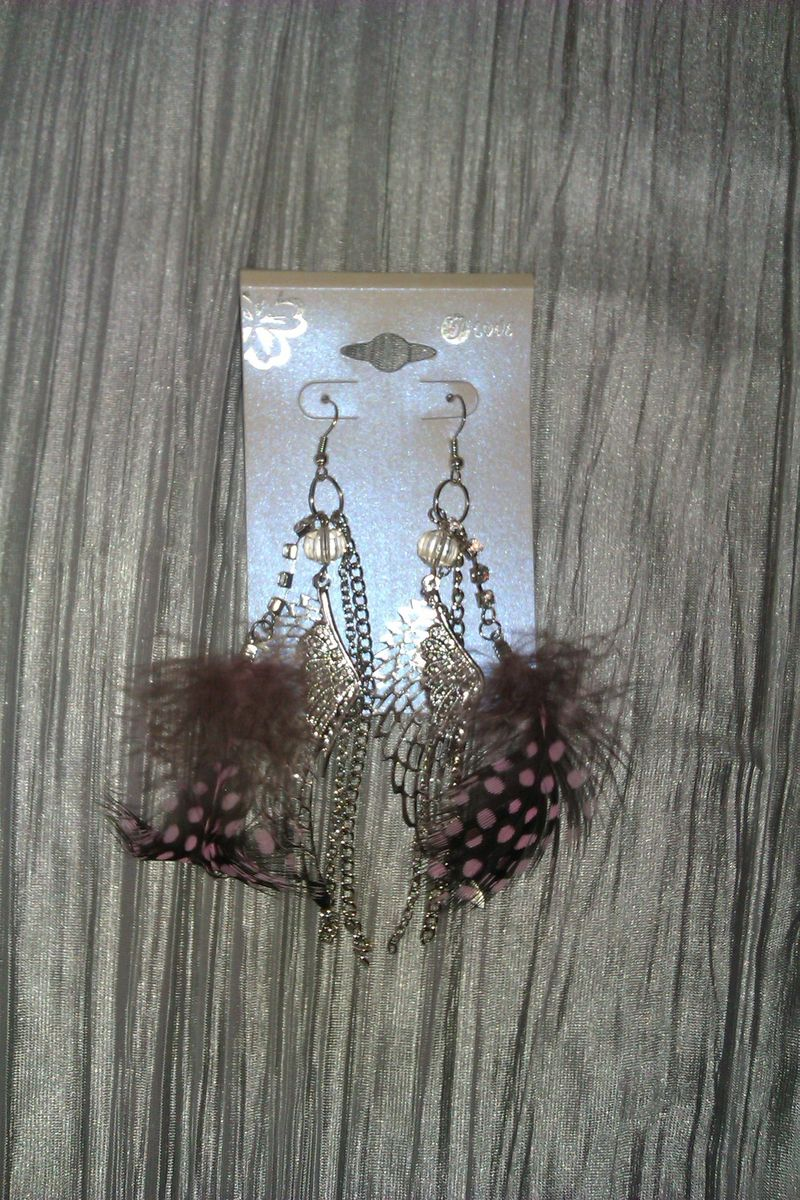 Feather Angel Wing Ear Rings - product image