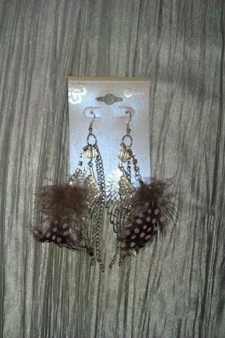 Feather Angel Wing Ear Rings - product images 2 of 2