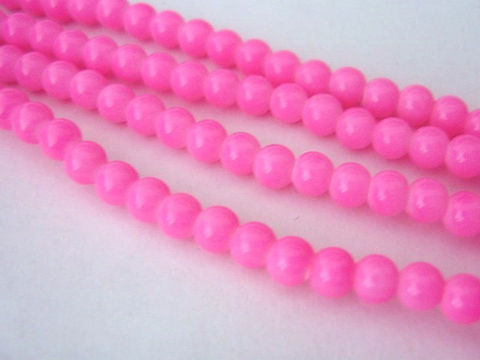 Opaque,Pink,4mm,Round,Glass,Beads,pink_glass_beads,bubblegum_pink beads,pink_opaque beads,glass_beads,4mm_round beads,round_glass_beads,round_beads,pink_beads,4mm_beads,Beads2string,online bead store, craft beads, jewelry making supplies