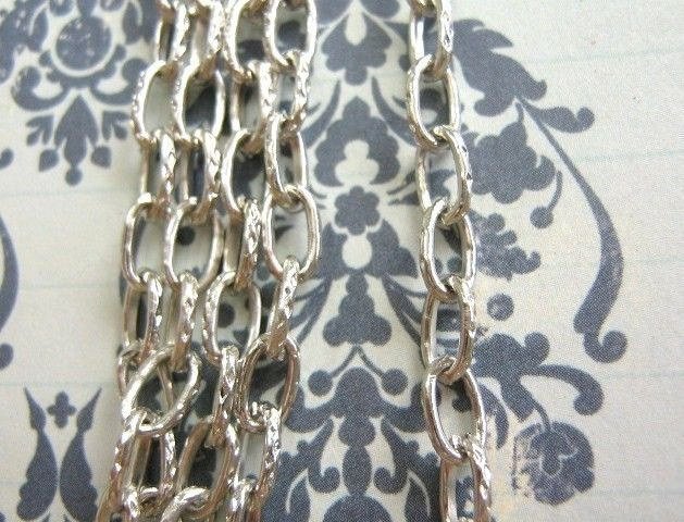 Cross Chain 8x4.5mm Silver Tone Finish 6 Feet  - product images  of