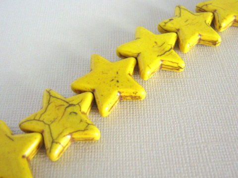 Yellow,Howlite,26mm,Star,Gemstone,Beads,supplies,beads,yellow_howlite,gemstone_beads,star_beads,howlite_star_beads,yellow_star_beads,26mm_star_bead,imitation_turquoise_beads,howlite_beads,bead store, Beads2string, yellow howlite beads,craft_supply_store