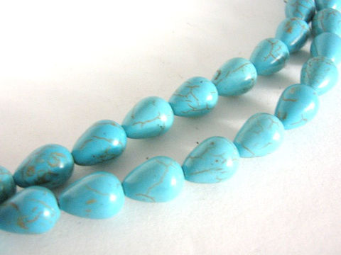 Turquoise,Howlite,10x14mm,Teardrops,Blue,Gemstone,Beads,supplies,gemstone,gemstone_beads,turquoise_howlite,howlite_beads,tear_drop_beads,teardrop_gemstones,14x10mm_teardrop_beads,turquoise_beads,blue_beads,blue_gemstone_beads,Beads2string,bead_store,imitation_turquoise_beads,howlite_beads