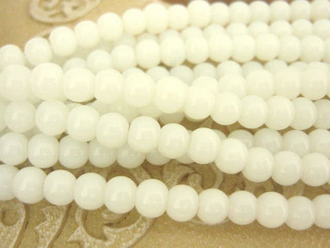 Milky,White,4mm,Round,Glass,Beads,Bead,Glass beads,white 4mm round beads,4mm round beads,round beads,white_beads,round_beads,white_round_beads,white_glass_beads,jewelry_making,craft supplies,Beads2string, bead store, wholesale beads