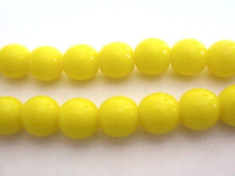 Yellow,Opaque,6mm,Round,Druk,Czech,Glass,Beads,craft supplies, glass, beads, supplies, druk glass beads, round glass beads, yellow round beads,yellow beads,  czech druk beads, 6mm round, yellow glass beads, yellow czech beads, yellow opaque beads, czech glass beads, glass beads, bead store, Beads2stri