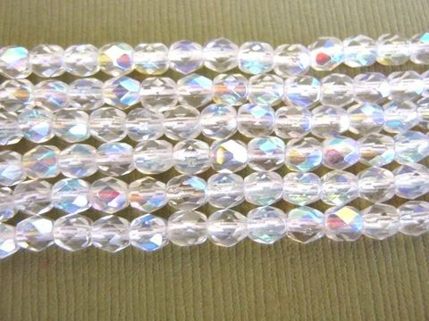 Crystal,AB,Clear,4mm,Faceted,Round,Czech,Glass,Beads,bead_supplies,supplies,bead,glass_beads,czech_beads,czech_ glass_beads,clear_glass_beads,crystal_AB_4mm_round_beads,faceted_round_beads,4mm_round_beads,round_beads,Beads2string,round_czech_beads,clear_ab_czech_beads, fire_polished_beads
