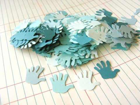 Confetti,Blue,Hand,Print,Cut,Outs,7/8,Inch,Die,Paper,Supplies, Scrapbooking, Die_Cut, blue_hand_print, hand_print_confetti ,hand_cut_outs, handprint_cut_outs, hand_print_cut_outs, hand_confetti, hand_die_cut, hand_print_die_cut, beads2string, party_decoration, table_confetti, envelope_confetti, blue_hand_co