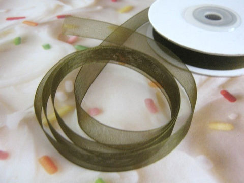 Dark,Green,Organza,Ribbon,Sheer,3/8,Inch,Wide,4,Yards,Floral,Supply,ribbon,green_organza_ribbon,organza_ribbon,wedding_ribbon,floral_supply,ribbon_for_bows,ribbon_by_the_yard,corsage_ribbon,weddin_ribbon, Beads2string,11mm_ribbon,craft_store