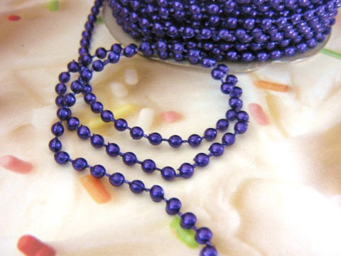 Purple,Pearl,Bead,Garland,4mm,Round,Plastic,Fused,Strand,3,Yards,fused bead strand,purple_bead_garland,beaded_trim,4mm_round,purple_pearl_strand,plastic_bead_strand,faux_pearl_trim,plastic_pearl_trim,floral_supply,millinery supplies,craft_supplies, craft store, Beads2string