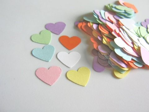 Confetti,Conversation,Heart,Die,Cut,5/8,Inch,Cardstock,Paper,die_cuts ,scrapbooking, paper_goods, supplies, heart_die_cuts, heart_cut_outs, heart_confetti, converstation_heart_confetti, conversation_heart_die_cut, paper_hearts, handmade_die_cuts, cardstock_hearts, scrapbook_hearts, Beads2string, craft_supply_store