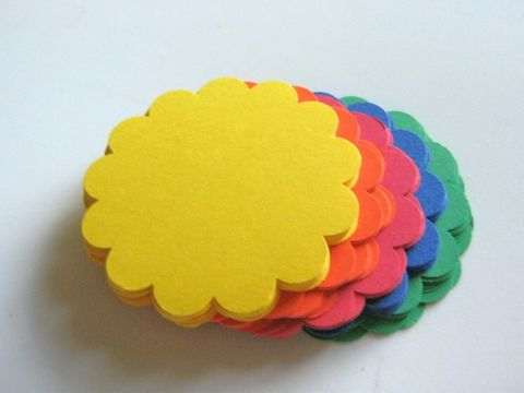 Scallop,Circle,Die,Cuts,2.5,Inch,Yellow,Orange,Green,Blue,Red,Cardstock,Paper,supplies, scrapbooking, paper_goods, die_cuts, circle_die_cuts, circle_cut_outs, scallop_circle_cut_out, round_die_cuts, scallop_circle_die_cut, scalloped_circle_die_cut, 2_inch_scallop_circle_die_cut, primary_color_die_cut, cardstock_circle, scrapbook_ci