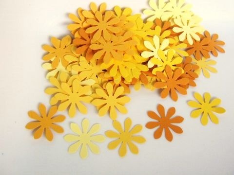 Confetti,1,Inch,Flower,Die,Cut,Yellow,Cardstock,Paper,supplies, scrapbooking, paper_goods, handmade_die_cuts, die_cuts, flower_die_cuts, paper_flower, flower_confetti, 1_inch_flower_die_cut, scrapbook_flower, flower_embellishment, yellow_flower_die_cut, Beads2string, craft_supply_store