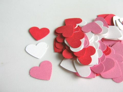 Red,Pink,White,Heart,5/8,Inch,Confetti,Die,Cut,Cardstock,Paper,supplies, paper_goods, scrapbooking, heart_die_cuts, paper_hearts, die_cuts, cut_outs, 5/8_inch_heart_die_cut, red_white_pink_heart_cut_outs, beads2string, craft_store