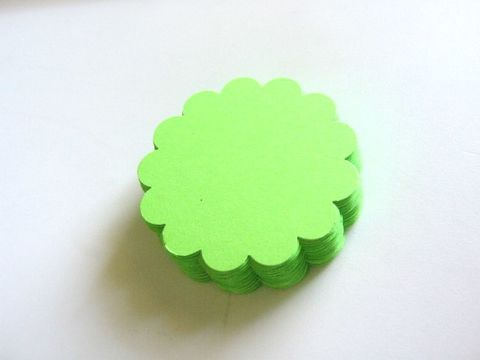 Green,Scallop,Circle,2.5,Inch,Die,Cuts,Cardstock,Paper,supplies, paper_goods, scrapbooking, die_cuts, cut_outs, circle_cut_outs, scallop_circle_cut_outs, 2.5_inch_circle_cut_outs, green_scallop_circle_die_cut, beads2string, scallop_circle_die_cuts, handmade_cut_outs, craft_store