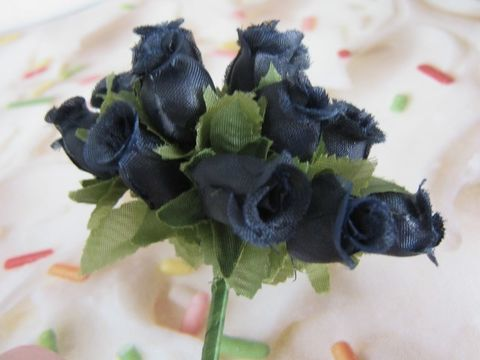 Black,Rose,Bud,Flower,Fabric,Wired,Floral,Pick,supplies,floral_supply,wired_floral_pick,wired_fabric_flower,black_flower,black_fabric_flower,flower_bunch,mulberry_flower,rose_bud_flower,rose_bud_flower_bunch,black_rose_flower,1/2_inch_flower,artificial_flower,rose_flower_pick,Beads2string,craft_supply