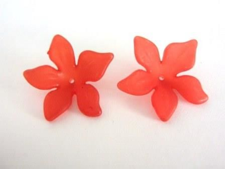 Frosted,Red,Flower,Beads,29mm,Clematis,Acrylic,supplies,plastic_flowers,acrylic_flowers,5_petal_flower_bead,29mm_flower_beads,red_flower_bead,29mm_red_flower_bead,star_flower,lucite_flower_bead,Beads2string,plastic_flower_beads,bead_store,bead_supply,jewelry_supply