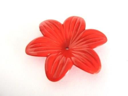 Acrylic,Opaque,Red,Flower,Beads,48mm,Lily,supplies,plastic_flower_beads,48mm_flower_bead,6_petal_flower_bead,lily_flower_bead,acrylic_flower,Beads2string,red_flower,red_flower_beads,jewelry_supply,bead_store,red_acrylic_flowers,flower_beads,bead_