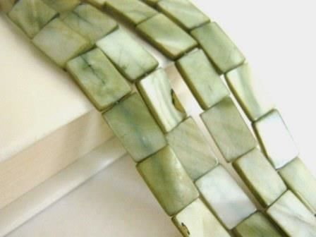 Green,10x15mm,Rectangle,Shell,Beads,supplies,beads,shell_beads,green_shell_beads,rectangle_beads,rectangle_shell_beads,15x10mm_rectangle_beads,flat_rectangle,Beads2string,craft_store,bead_store,bead_supply,jewelry_supply