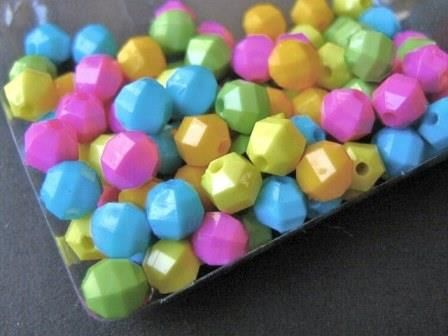 Assorted,6mm,Faceted,Round,Acrylic,Beads,Opaque,Yellow,Orange,Pink,Green,Blue,supplies,Bead,Plastic_beads,faceted_round_beads,acrylic_beads,6mm_round beads,plastic_round,round_beads,6mm_faceted_round_acrylic_beads,craft_supply,beads2string,bead_store,assorted_6mm_round_beads,bead_supply,jewelry_supply