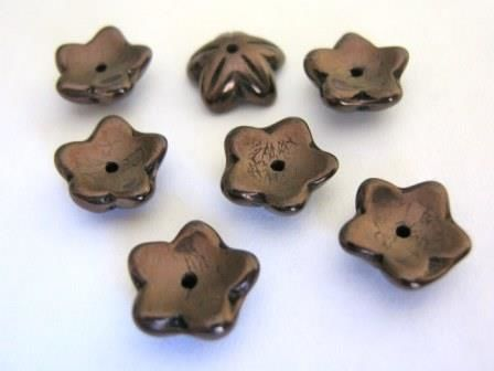 Copper,10mm,Flower,Bead,Czech,Glass,beads,supplies,copper_glass_beads,glass_flower,10mm_flower_bead_cap,czech_flower_beads,10mm_flower_bead,flower_beads,copper_flowers,bead_supply,Beads2string,jewelry_supply
