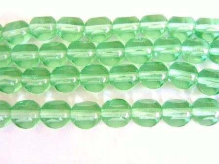 Green,8mm,Round,Window,Cut,Czech,Beads,Antique,Triangle,Glass,supplies,beads,czech_beads,glass_beads,green_glass_beads,czech_glass_beads,transparent_green beads,green_czech_beads,round_window_cut_beads,green_round_beads,geometric_shaped_beads,green_beads,beads2string,bead_store,jewelry_supply,bead_