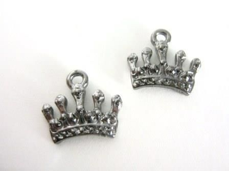 Crown,Charm,15x17mm,Gunmetal,Finish,Princess,Tiara,supplies,jewelry_Findings,charms,crown_charm,princess_tiara_charm,tiara_charm,gun_metal_charms,crown_pendant,tibetan_silver_charms,alloy_charms,jewelry_supply,princess_charms,Beads2string,online_ bead_ store,bead_supply