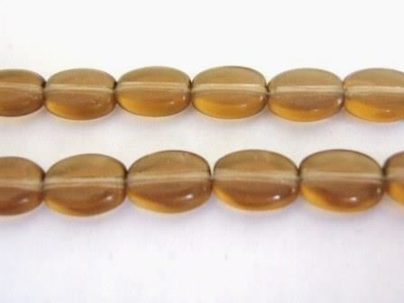 Smoky,Topaz,Brown,8x6mm,Flat,Oval,Czech,Glass,Beads,supplies,beads,czech_beads,brown_glass_beads,glass_beads,czech_glass_beads,brown_czech_beads,flat_oval beads,oval_beads,oval_glass_beads,brown_beads,6x8mm_oval_beads,bead_store,Beads2string