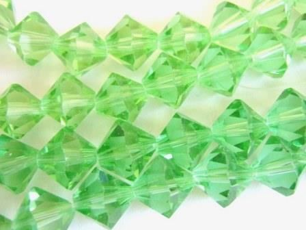 Transparent,Green,12mm,Faceted,Bicone,Glass,Beads,Crystal,supplies,Bead,Glass_beads,crystal_bicone,bicone_glass_beads,bicone_bead,green_transparent_ beads,12mm_bicone_beads,faceted_bicone_ beads,green_beads,chinese_crystal_bead, Beads2string
