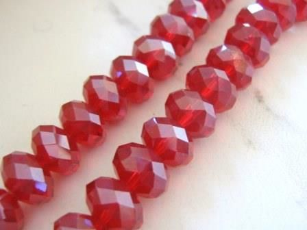 Red,8x12mm,Faceted,Rondelle,Crystal,Glass,Beads,supplies, beads, glass_beads, red_glass_beads, spacer_beads, 12mm_rondelle_beads, rondelle_beads, red_beads, red_rondelle_bead ,crystal_beads, 12x8mm_rondelle_beads, 12mm_rondelle_bead, jewelry_supplies, Beads2string, bead_store, crystal_rondelle, glass_r