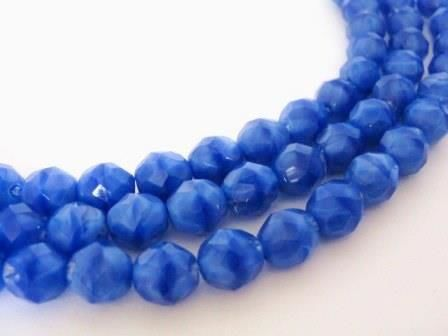 Opaque,Blue,8mm,Faceted,Round,Czech,Glass,Beads,Fire,Polished,beads,supplies,craft_supplies,czech_beads,czech_glass_beads,blue_8mm_round_beads,8mm_faceted_round_beads,blue_beads,round_beads,8mm_beads,blue_round_beads,Beads2string,online_bead_store,blue_glass_beads,round_glass_beads
