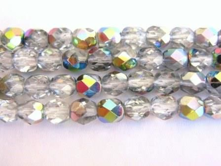 Vitrail,4mm,Faceted,Round,Czech,Glass,Beads,beads,supplies, glass_beads, czech_beads, silver_glass_beads, round_beads, silver_beads, round_glass_beads, 4mm_round_beads, faceted_round_beads, vitrail_czech_beads, czech_glass_beads, silver_clear_beads, beads2string,bead_store