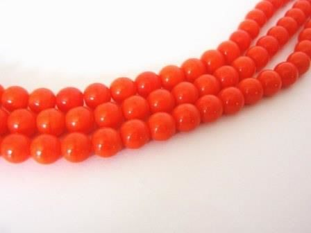 Opaque,Orange,6mm,Round,Czech,Glass,Beads,Druk,beads, supplies, czech_beads, orange_beads, orange_glass_beads, 6mm_round_bead, round_beads, czech_round_beads, orange_round_beads, opaque_orange_beads, 6mm_bead, Beads2string, czech_glass_beads, bead_store, 6mm_czech, druk_bead