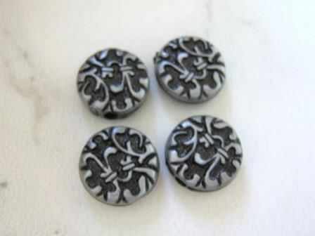 Antique,Silver,Tone,14.5mm,Coin,Plastic,Acrylic,Beads,supplies,beads,spacer_beads,14mm_coin,14mm_flat_round,gray_plastic_beads,antique_silver_coin,gray_beads,plastic_beads,acrylic_beads,Beads2string,craft_supplies,jewelry_supply,beading_supplies