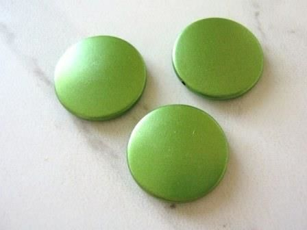 Green Coin 26mm Flat Round Acrylic Beads - product images  of