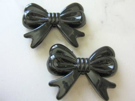 Black,46mm,Bow,Tie,Plastic,Acrylic,Kawaii,Beads,Bowknot,supplies,beads,acrylic_beads,plastic_bow beads,black_bow,bowknot_bead,black_plastic_beads,36x46mm,big_plastic_bows,kawaii_beads,bubble_gum_beads,black_beads,craft_supplies,beads2string,bead_store,jewelry_supply