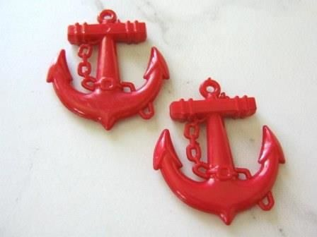 Acrylic,Opaque,Red,45mm,Anchor,Pendants,Nautical,Charm,Supplies, Beads, plastic_anchor, anchor_charms, 39x45mm_anchor_charm, 45mm_anchor_charm, red_anchor_bead, nautical_charms, sailor_charms, acrylic_anchor, big_anchor_charm, bubble_gum_beads, Beads2string, online_bead_store, acrylic_anchor_pendant, kawaii_b