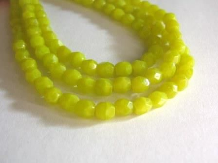Chartreuse,Green,4mm,Faceted,Round,Czech,Glass,Beads,beads, supplies, yellow_green_opauqe_beads, czech_beads,4mm_round_beads, green_round_beads, green_beads, firepolished_beads, round_glass_beads, green_glass_beads, czech_opaque_beads, czech_green_beads, Beads2string, bead_store, chartreuse_czech_beads