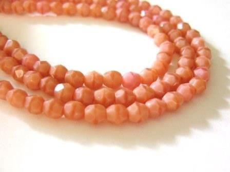 Coral,Opaque,Pink,4mm,Faceted,Round,Czech,Glass,Beads,beads, supplies, pink_opaque_beads, czech_round_beads, czech_beads, round_glass_beads, pink_glass_beads, pink_beads, pink_round_beads, 4mm_round_beads, firepolished_beads, round_beads, jewelry_supplies, Beads2string, 4mm_round_czech_beads, bead_store