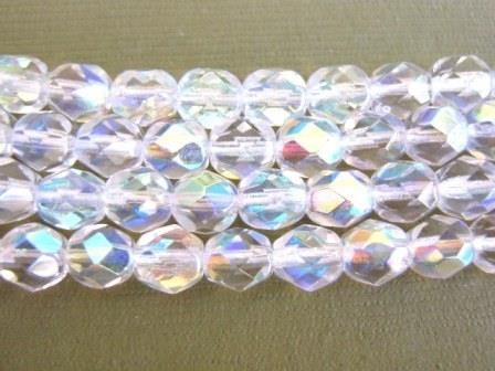 Clear,AB,6mm,Faceted,Round,Czech,Glass,Beads, bead,supplies,czech_beads,czech_glass_beads,clear_glass_beads,clear_AB_beads,glass_beads,faceted_round_beads,6mm_round_beads,round_beads,Beads2string,round_czech_glass,firepolished_beads,bead_store
