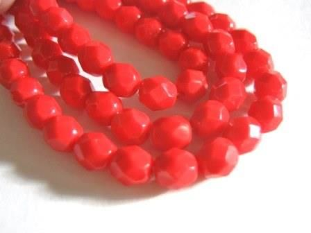 Opaque,Red,6mm,Faceted,Round,Czech,Glass,Beads,supplies,czech_beads,red_glass_beads,red_beads,czech_red_beads,glass_beads,6mm_round_beads,red_opaque_beads,round_glass_beads,round_beads,red_round_beads,czech_opaque_beads,czech_round_beads,beads2string,jewelry_supply,bead_supply,faceted_round_bead